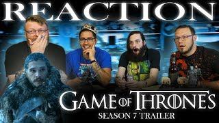 Game of Thrones Season 7 #WinterIsHere Trailer #2 REACTION!!