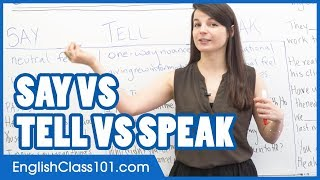 Video SAY, TELL, SPEAK - What is the difference? Confusing English Verbs MP3, 3GP, MP4, WEBM, AVI, FLV Juli 2018