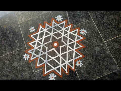 Video 13 | Wet Rice Flour Rangoli | Simple Arisi Maavu Kolam download in MP3, 3GP, MP4, WEBM, AVI, FLV January 2017
