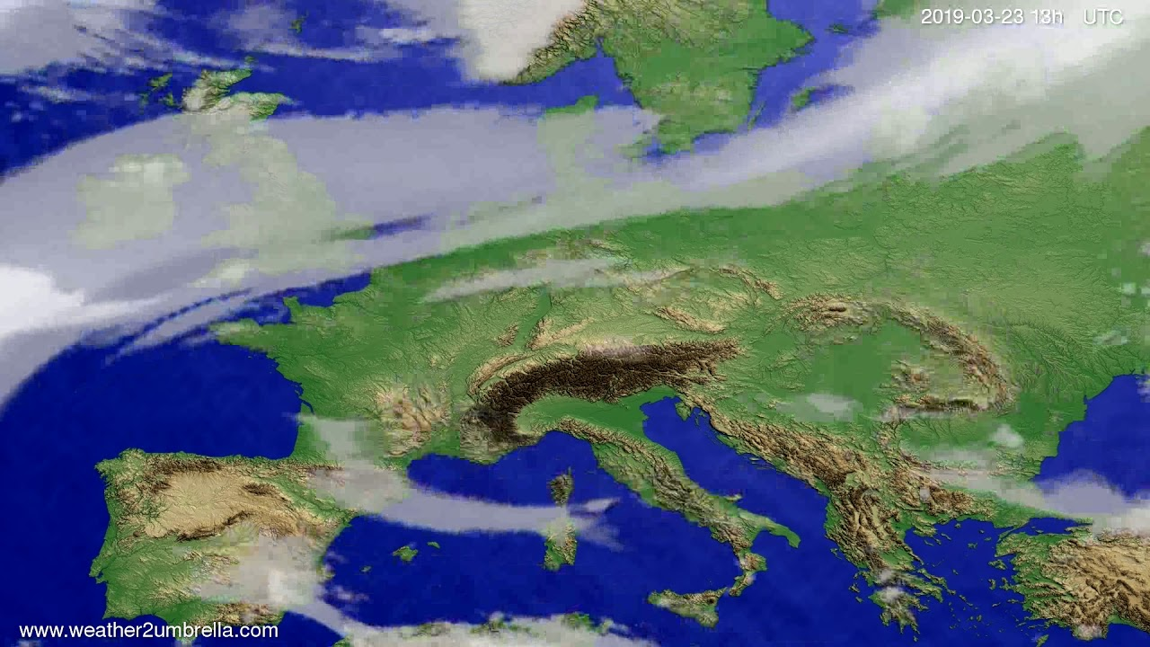 Cloud forecast Europe 2019-03-23