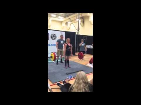 Blonde Girl Puking While Deadlifting