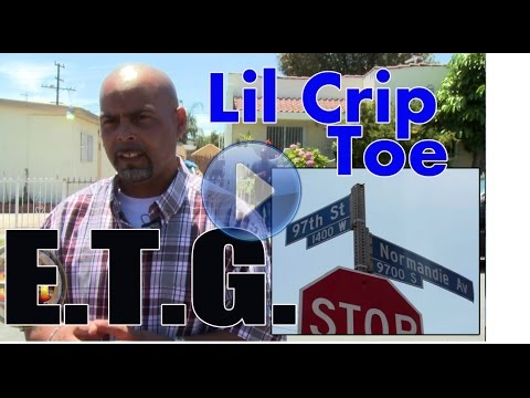 crip - http://www.streetgangs.com/video-clips/080714_pinky_loc Lil Crip Toe, 42, aka Pinky Loc from Eight Tray Gangster Crips, Back West Side, was recently released...