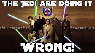 Video Jedi fight with their lightsabers WRONG: Star Wars MP3, 3GP, MP4, WEBM, AVI, FLV Maret 2019