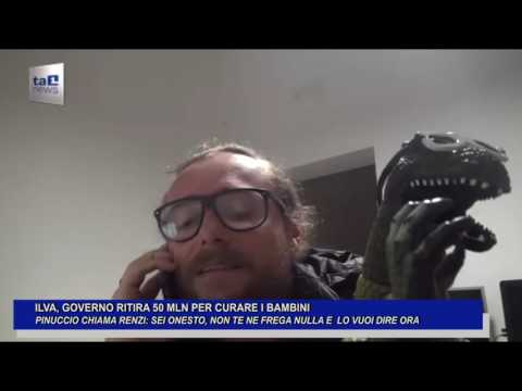 ILVA GOVERNO RITIRA 50 MLN PER CURARE BAMBINI: PINUCCIO CHIAMA RENZI