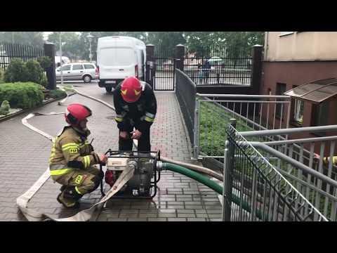 Wideo1: Strażacy usuwają skutki ulewy