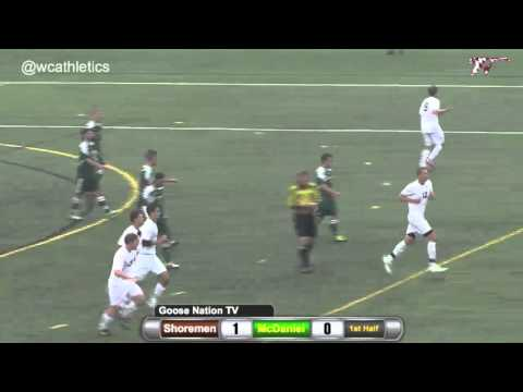 Washington College Men's Soccer Goals v. McDaniel