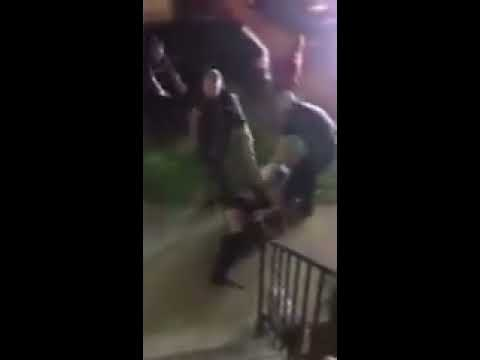 Providence Police Brutally Punch And Drag Woman By Hair Down Stairs Along Concrete Sidewalk