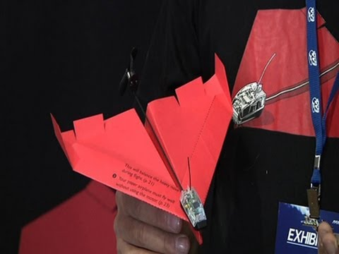 At - Smartphone powered paper airplane that was popular on crowdfunding website KickStarter makes its debut at Wisconsin airshow (July 30) Subscribe for more Breaking News: http://smarturl.it/Associate...