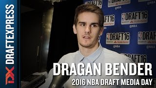 Dragan Bender NBA Draft Media Day Interview