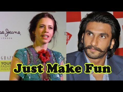 Did Kalki Koechlin Just Make Fun On Ranveer Singh?
