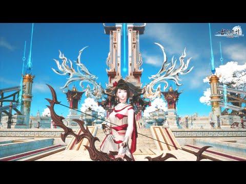 Swords of Legends Online 古剑奇谭OL - Archer 朝弦 New Class vs Story Gameplay - Big Update