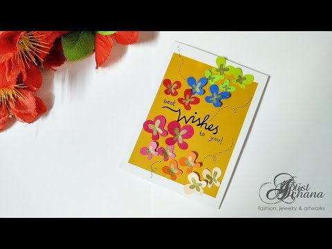 Birthday greetings - Beautiful Handmade Birthday Card  Birthday Card Idea by Artist Archana