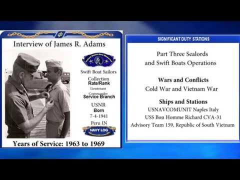 USNM Interview James Adams Part Three Sealords and Swift Boats Operations