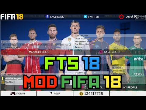 Fts 18 Mod Fifa 18 ( Apk + Data + Obb ) No Root