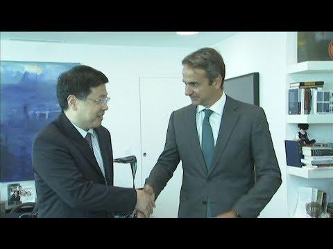 Συνάντηση Κυρ. Μητσοτάκη με τον Κινέζο πρέσβη