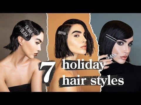 7 Easy Holiday Hairstyles (Short Hair) With Celeb Stylist Justine Marjan // BrittanyXavier