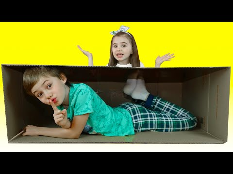 Nick and Poli Pretend Play Hide and Seek | Learn To Help Others Kids Story