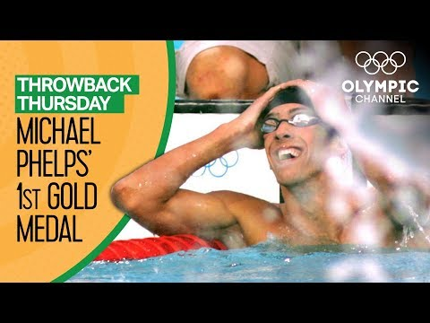 Michael Phelps' 1st Olympic Gold Medal | Throwback Thursday