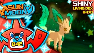 SHINY LEAFEON! EPIC SHINY REACTION! Quest For Shiny Living Dex #470 | Pokemon Sun Moon Shiny #42 by aDrive
