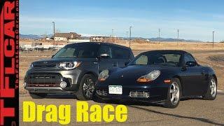 2017 Kia Soul Turbo vs Budget Boxster 201 HP Drag Race- Craigslist Project Porsche Ep.6 Video