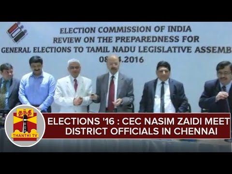 TN-Elections-2016--CEC-Nasim-Zaidi-Meet-District-Collectors-Police-Officers-in-Chennai