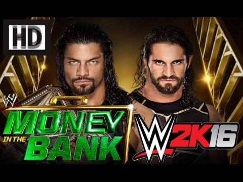 WWE 2K16 Simulation: Seth Rollins vs Roman Reigns │Money in the Bank 2016│(HD)