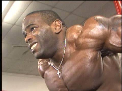 Pro Bodybuilder Johnnie Jackson arms training
