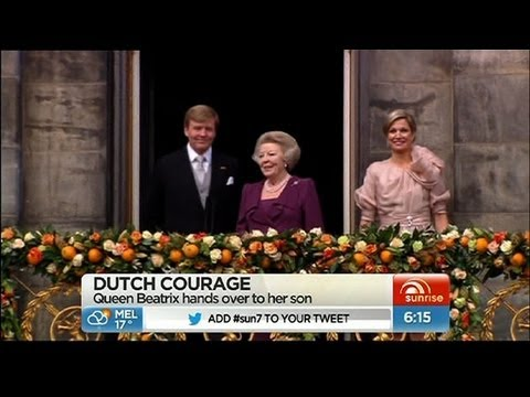 Dutchqueen - Queen Beatrix of The Netherlands has abdicated for her son Prince Willem-Alexander. Nick McCallum reports from Amsterdam.