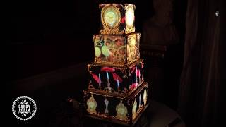 Gold Baroque Tired Wedding Cake With Beauty And The Beast 360 Projection Mapped Animated Theme