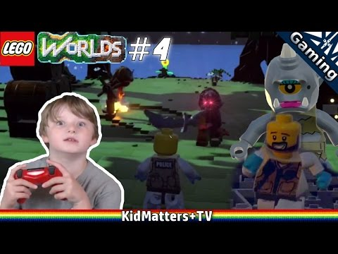 Lego Worlds - Treasure Hunting With Things That Go Bump In The Night. Part #4 [KM+Gaming S01E34]