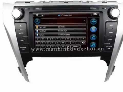 Lắp màn hình DVD thep xe Camry, đầu DVD theo xe Camry