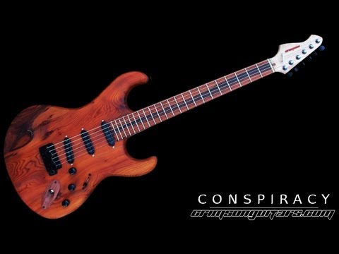 The custom 'Conspiracy' guitar design features with Crimson Guitars