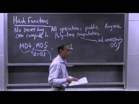 21. Cryptography: Hash Functions