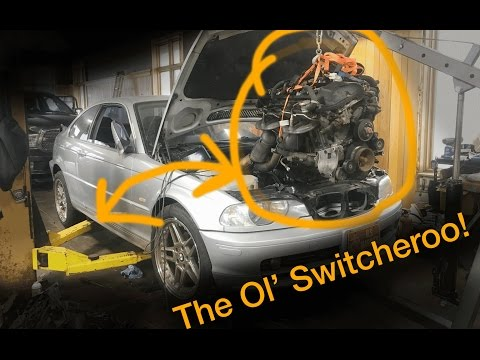 BMW e46 full engine replacement on a 2000 323Ci