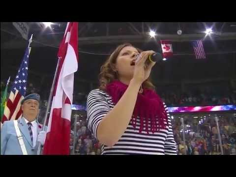 up - Like if you thought it was funny! American National Anthem before the Portland - Halifax game at the 2013 Memorial Cup. Singing from Alexis Normand . Respect...