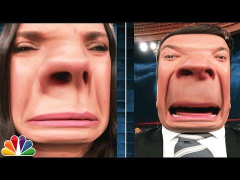 شاهد كيف يتلاعب جيمي فالون وميلا كونيس بمظهرهما