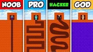 Minecraft NOOB vs. PRO vs. HACKER vs GOD :   LAVA PRISON ESCAPE CHALLENGE in Minecraft! (Animation)