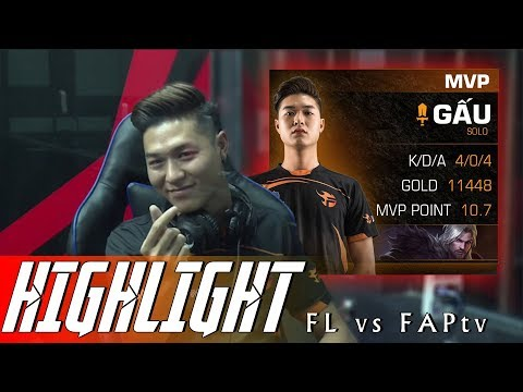 Highlight Team Flash vs FAPtv | CON QUÁI VẬT FL GẤU | ĐTDV mùa Xuân 2019 - Thời lượng: 9 phút, 16 giây.