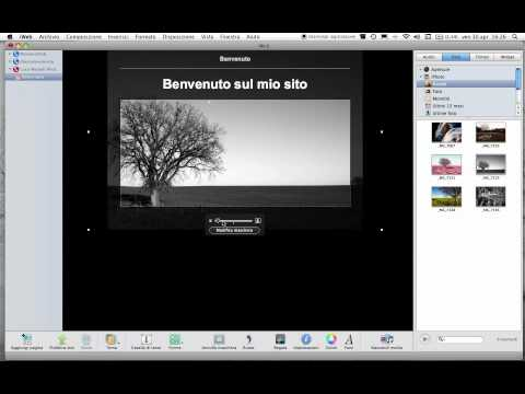 Introduzione a come poter creare un sito web con iWeb - Mac ...