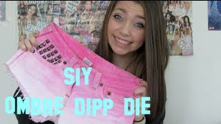 SIY: OMBRE Dip Dye Studded Shorts! - YouTube
