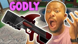 MOST RIDICULOUS GODLY GUN UNBOXING EVER!!   Roblox Murder Mystery 2