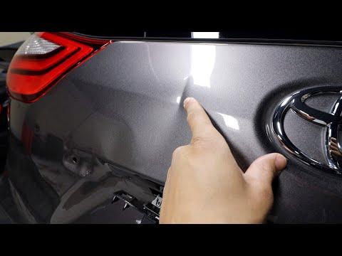 Extremely Sharp Dent Repair on a Toyota Sienna Lift Gate| Dentless Touch