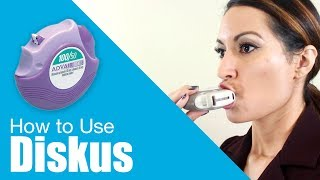 How to use Diskus inhaler