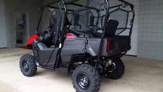 5. 2016 Honda Pioneer 700-4 Start Up & Walk-Around - SxS / Side by Side ATV / UTV