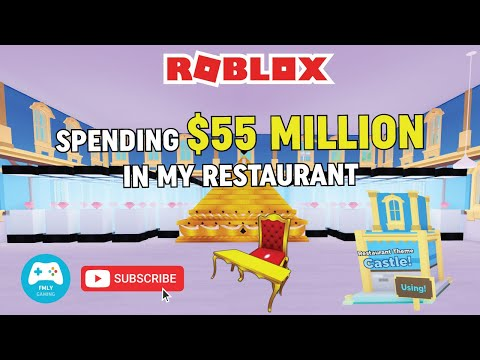 Roblox My Restaurant. Spending $55 Million on Shrine, Castle Theme, Royal Tables, Royal Chairs.