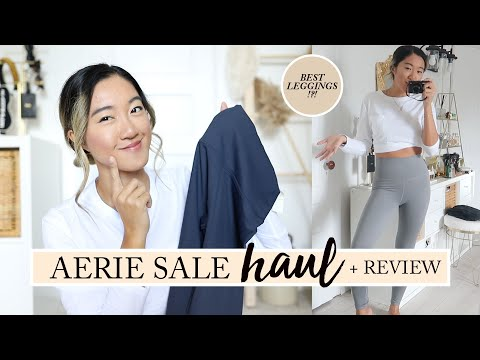 AERIE SALE HAUL & REVIEW: What I Got For $325 | Best Leggings?