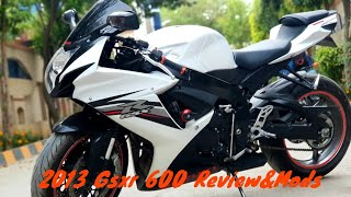 2. My 2013 (Gsxr 600) Review Specs And Mods