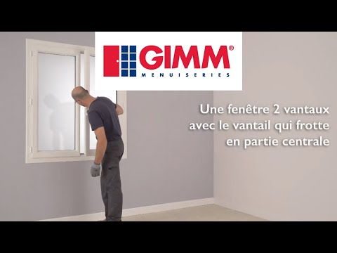 La fenêtre PVC frotte en partie centrale - GIMM Menuiseries