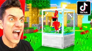 TESTING BEST VIRAL TIK TOK MINECRAFT HACKS TO SEE IF THEY WORK!