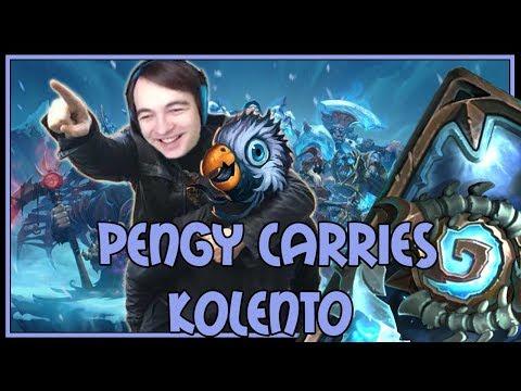 Hearthstone: Pengy carries Kolento (aggro druid) (видео)